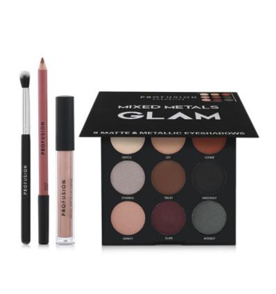 PROFUSION Cosmetics Mixed Metals GLAM paleta sobra de ojos y labios