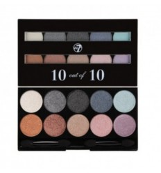 W7 10 out of 10 PALETA SOMBRAS AZIL-MARRON 1gX10
