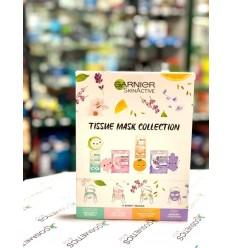 Garnier SkinActive Tissue Mask Collection Pack 4 mascarillas faciales