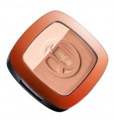 L'Oréal Glam Bronze Dúo Polvos Compactos Sol e Iluminador 101 Harmonie Blonde