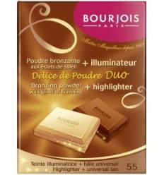 BOURJOIS DÚO polvo bronceador + iluminador chocolatina Nº 55