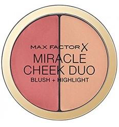 MAX FACTOR MIRACLE CHEEK DUO BROWN PEACH & CHAMPAGNE 020