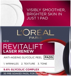 L'Oreal Paris Revitalift Laser Renew - Almohadillas glicólicas antienvejecimiento