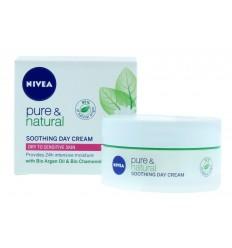 Nivea Pure & Natural Crema Día Hdiratante Calmante Piel Sensible 50 ml