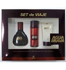 AGUA BRAVA SET DE VIAJE EDC 50 ml + AFTER SHAVE BALM 50 ml + FOAM SHAVE 50 ml