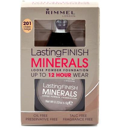 RIMMEL LASTING FINISH MINERALS POLVOS SUELTOS 12H TONO 201 CLASSIC BEIGE