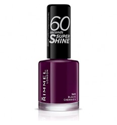 RIMMEL 60 SECONDS ESMALTE SUPER SHINE 345 BLACK CHERRIES