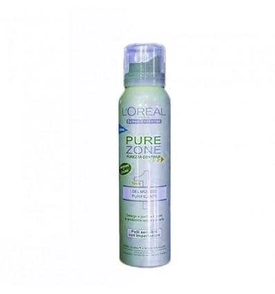 L'Oréal Pure Zone Gel Auto Espumoso Purificante 125 ml