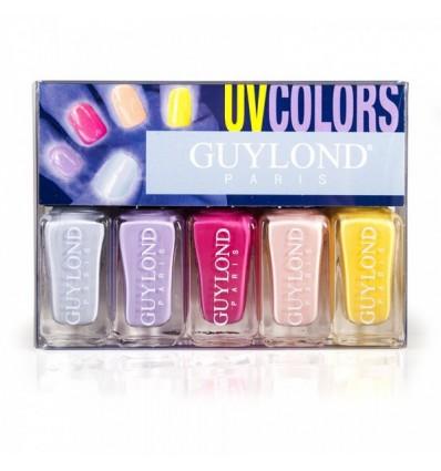 GUYLOND UV COLORS SET 5 ESMALTES