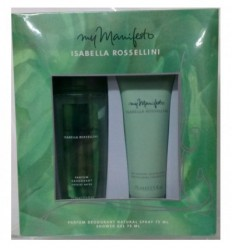 ISABELLA ROSSELLINI MY MANIFESTO PARFUM BODY SP 75ML + GEL 75ML WOMAN