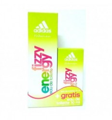 ADIDAS FIZZY ENERGY EDT 75 ml SPRAY + EDT 30 ml GRATIS FOR WOMAN