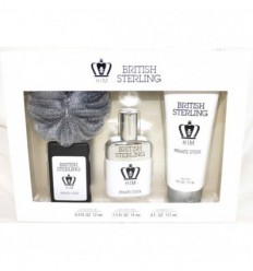 BRITISH STERLING HIM PRIVATE STOCK EDT 74 ML SPRAY + EDT 12 ML SPRAY + GEL DUCHA 177 ML+ ESPONJA DANA