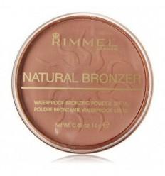 RIMMEL NATURAL BRONZER 022 SUN BRONZE POLVO BRONCEADOR WATERPROOF SPF15 14G