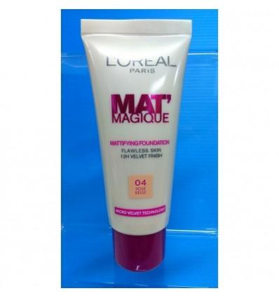 L'OREAL MAT MAGIQUE 12H MATTE 04 ROSE BEIGE 25 ml