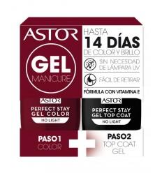 ASTOR 108 gel manicure pack duo esmaltes de uña 6 ml + 6 ml