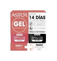 ASTOR 104 gel manicure pack duo esmaltes de uña 6 ml + 6 ml