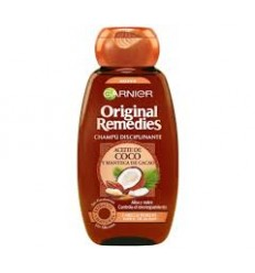 GARNIER ORIGINAL REMEDIES CHAMPU ACEITE COCO Y MANTECA CACAO 250 ml