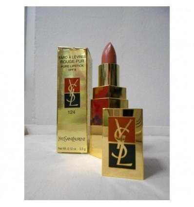 YSL Fard A Lèvres Rouge Pur Spf 8 N 124 Rose Ingènu