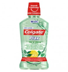 COLGATE PLAX ENJUAGUE BUCAL 500 ml TÉ Y LIMÓN