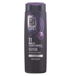 REVLON SALON HITS 11 BENEFICIOS CHAMPÚ CREMOSO C/ SECO Y DAÑADO 300 ml