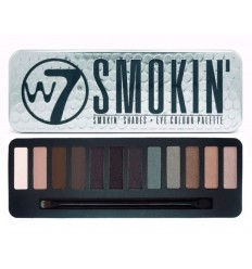 W7 Make up - Paleta de sombras de ojos Smokin'