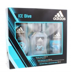 ADIDAS ICE DIVE EAU DE TOILETTE 100 ml + GEL 250 ml + DESODORANTE SPRAY 150 ml