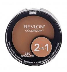 Revlon Colorstay Maquillaje Natural Compacto 2-en-1 tono natural 330