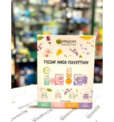Garnier SkinActive Tissue Mask Collection Pack 4 mascarillas faciales