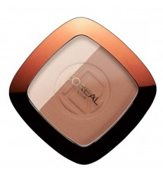 L'Oréal Glam Bronze Dúo Polvos Compactos Sol e Iluminador 102 Brunette Harmony