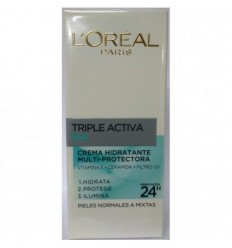 L`ORÈAL TRIPLE ACTIVA DÍA CREMA HIDRATANTE PIEL NORMAL/MIXTA 50ML