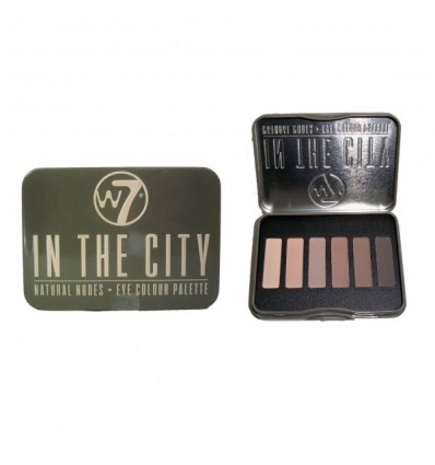 W7 IN THE CITY NATURAL NUDES PALETA 6 SOMBRAS