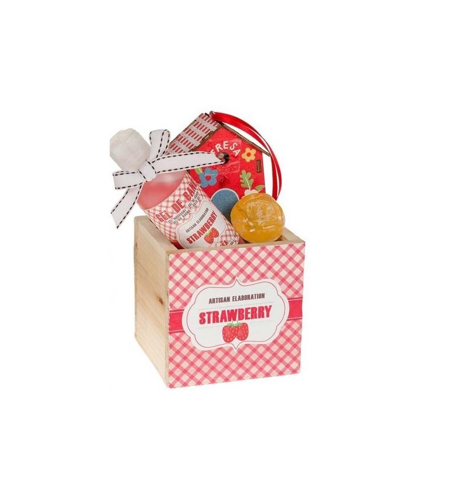 La casa de los aromas cesta madera strawberry gel jab n - Casa de los aromas ...