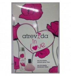 ATREVIDA IN LOVE EDT 75 ML + DEO SPRAY 150 ML
