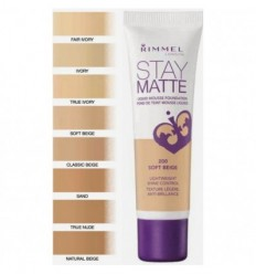 RIMMEL STAY MATTE BASE MATIFICANTE MOUSE 200 SOFT BEIGE 30ML