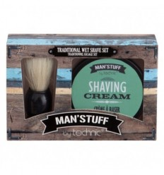TECHNIC MAN´STUFF PACK BROCHA AFEITADO + CREMA AFEITADO 100ML