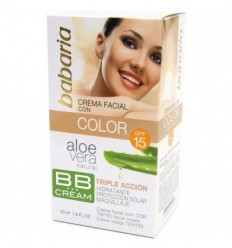 BABARIA BB CREMA FACIAL CON COLOR SPF 15 ALOE VERA 50 ml