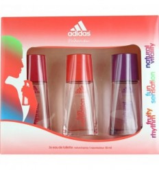 ADIDAS WOMEN FRUITY RHYTHM 30ML + FUN SENSATION 30ML + NATURAL VITALY 30 ML SPRAY