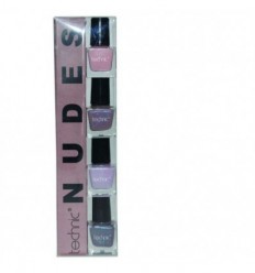 TECHNIC NUDES SET 4 ESMALTES DE UÑAS 6 ML