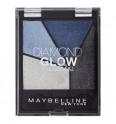 MAYBELLINE DIAMOND GLOW SOMBRA DE OJOS BRILLO DIAMANTE 03 BLUE DRAMA