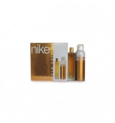 NIKE WOMAN GOLD EDITION EDT 100 ml SPRAY + DEO SPRAY 200 ml
