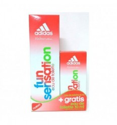 ADIDAS FUN SENSATION EDT 75 ML SPRAY + EDT 30 ML SPRAY GRATIS FOR WOMAN