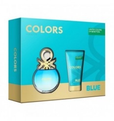 BENETTON COLORS BLUE EDT 50 ML SPRAY + BODY MILK 50 ML WOMAN