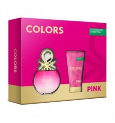 BENETTON COLORS PINK EDT 50 ml SPRAY + BODY MILK 50 ml WOMAN