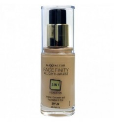 MAX FACTOR FACE FINITY 3 IN 1 BASE CON MAQUILLAJE Y CORRECTOR EN UNO SPF 20 75 GOLDEN 30ML