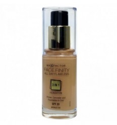 MAX FACTOR FACE FINITY 3 IN 1 BASE CON MAQUILLAJE Y CORRECTOR EN UNO SPF 20 80 BRONZR 30ML