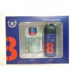 TITTO BLUNI SPORT EDT 75 ml vapo + DEO SPRAY 150 ml FOR MEN