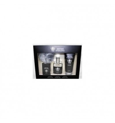 BRITISH STERLING HIM RESERVE EDT 74 ML SPRAY + EDT 12 ML SPRAY + GEL DUCHA 177 ML+ ESPONJA DANA