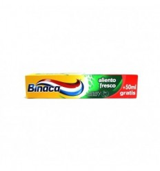 BINACA ALIENTO FRESCO DENTÍFRICO 75ML + 50 ML