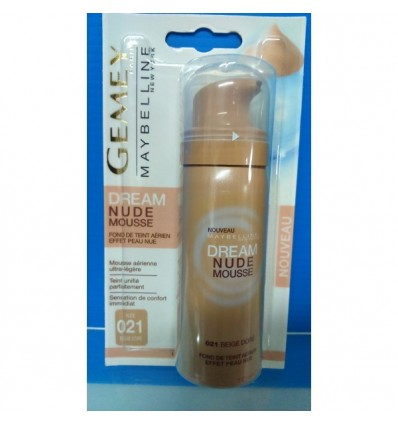MAYBELLINE DREAM NUDE MOUSSE MAQUILLAJE 21 BEIGE DORÉ 50 ML