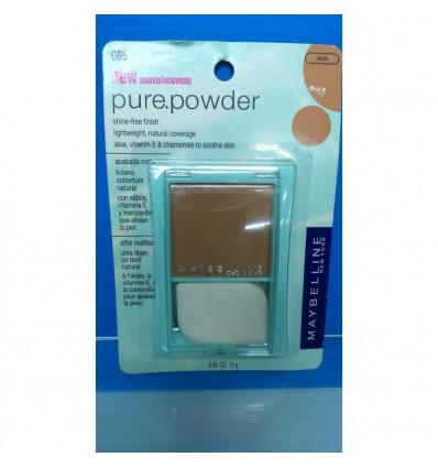 MAYBELLINE PURE POWDER POLVO ACABADO MATE 665 DARK 11G